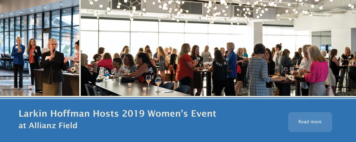 Banner slide of Allianz Stadium womens networking event