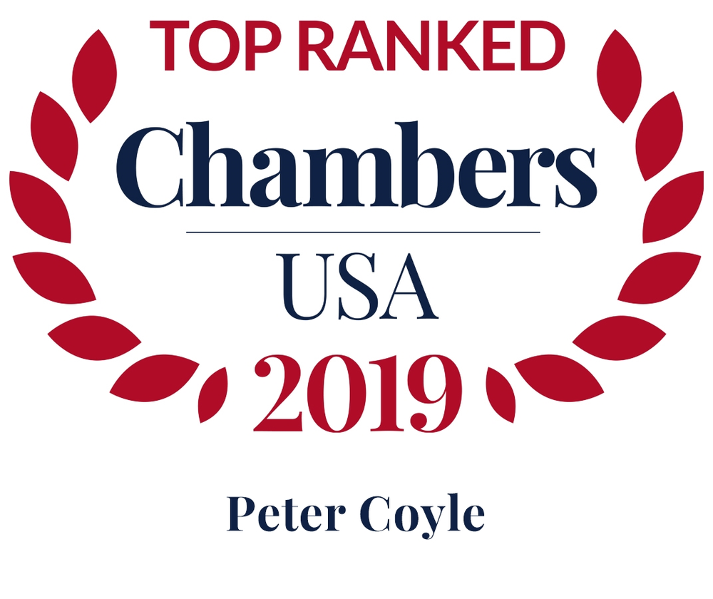 Peter Coyle Chambers badge ranking